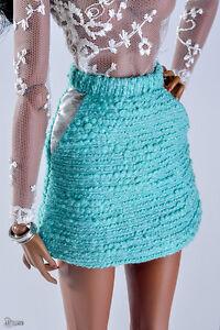 "ELENPRIV green boucle mini skirt Fashion royalty 16"" Tulabelle GenX Kingdom doll"