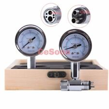 2Pcs Dental Air Pressure Gauge Test Tool 0-100 PSI Measuring Instrument 4 Hole