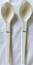Tupperware Condiment or Baby Food Spoon Set (2) 1208-27 Almond