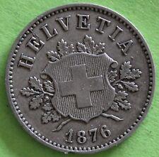 SUISSE 10 RAPPEN 1876