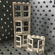 Lego White Windows Frames 1x4x3 With Two Panels Wall Buildings Elements 4pcs