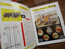 CATALOGUE OUTILLAGES INDUSTRIE & AUTOMOBILE FOG  1965 MARBRE  PONT COMPRESSEUR