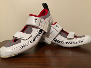 Specialized Trivent Expert Road Shoe 42EU 9US White w/Red cycling carbon EUC