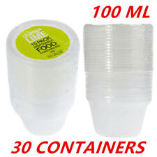 30 X Plastic 100ML Dipping Sauce Disposable Small Container Cups Lids Takeaway
