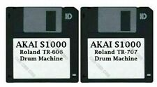 Akai S1000 Set of Two Floppy Disks Roland TR-606/TR-707 Drum Machines Collection