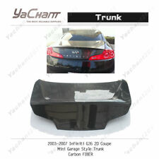 Carbon Boot Lid Fit For 2003-2007 Inifiniti G35 2D Coupe Mini Garage Trunk