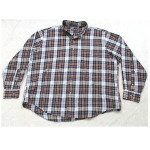 C.F. Hathaway Long Sleeve Cotton Polyester Mans Pocket Dress Shirt XL X-Large W8