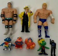 Vintage 80's 90's PVC - Lot of 8 Figures Soma, WWF, Dick Tracy, Smurfs ++