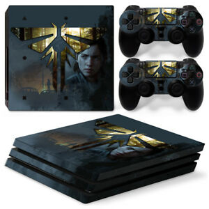PS4 Pro Playstation 4 Console Skin Decal Sticker Last of US 2 Custom Design Set