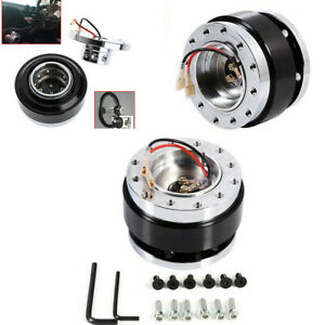 Quick Release Boss Kits 6 Hole Steering Wheel Hub Adapter Black Fit Car SUV