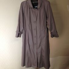 "London Fog Women's Topcoat Simple Button Down-Cotton blend-Liner-Size 16P/46""L"