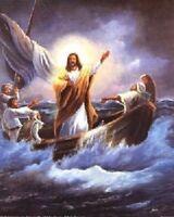 Wall Decor Jesus Christ Calming the Sea Femrite Religious & Spiritual Art 16x20