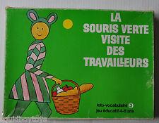 - LA SOURIS VERTE Visite des Travailleurs BOARD GAME Jeu-Loto 1980s -