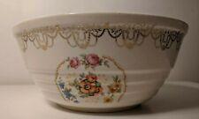 Bowl Serving Floral Oven-Proof Gold Color Trim Design 8+ Inch D Vintage! FEB2020