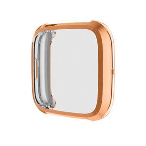New For Fitbit Versa 2/3/Sense Soft TPU Clear Case Full Cover Screen Portector