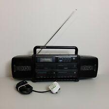 Philips DQ Boombox Ghetto Blaster Vintage  Dual Cassette Tape Radio