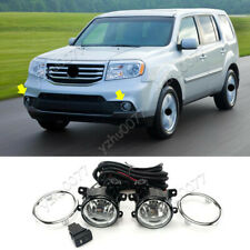 2012-2014 For Honda Pilot Halogen Front Fog Light Kit w/ Bulbs/ Switch/ Cable