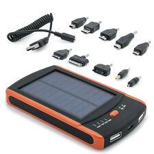 Power Bank 6000mAh mobiler externer Akku Ladegerät Solar 5V micro USB für iPhone