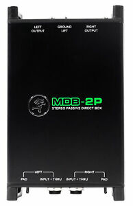 Mackie MDB-2P Stereo Passive Direct Box DI Box for Ultra-Low Noise/Distortion