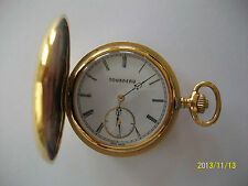 Tourneau Pocket Watch -19 Jewel Gold Plated- Skelton-Roman Numerals Swiss Made