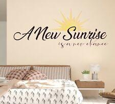 Custom Quote A New Sunrise Wall Decal Decor Sticker Art Vinyl Lettering M1352