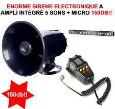 ENOOOORME 145db! 100W SIRENE CORNE DE BRUME 12V 5 SONS+MEGAPHONE SPECIALE BATEAU