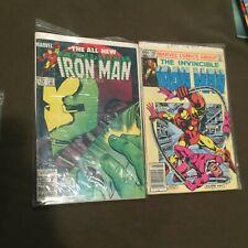 Lot of 3 The All New Iron Man Comic Books Marvel Comics #168, 179, & 180,