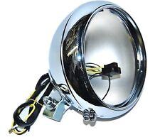 "7"" Motorcycle Headlight Chrome Housing Headlamp Light Bulb Bucket Fits: Harley"