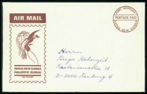 PAPUA NEUGUINEA UMSCHLAG COVER POSTAGE PAID VÖGEL BIRDS fi54