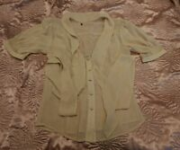 Womens Ladies Casual Yellow/Beige Work Top Blouse  size  8 from Atmosphere