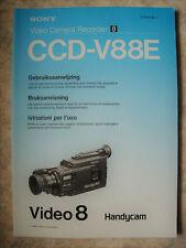 SONY VIDEO CAMERA RECORDER VIDEO 8 Model: CCD-V88E Bedienungsanleitung