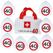 1. Erste Hilfe Tasche + 8 Luftballons lustige Geschenkidee zum 40. Geburtstag 40