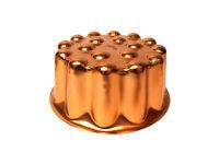 Vintage Aluminium Copper Tone Gelatin Jello Gelatin Mold 4 Cup Pan