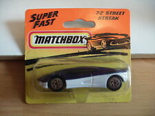Matchbox Street Streak in Purple/White on blister