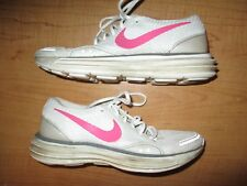 Nike LunarTrainer Women's Size 8 Running Shoes Pink White - Nice - Fast Shipping