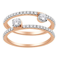 14K Rose Gold Women's Stackable Ring Set with 0.60 CT Diamond 121965