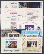 Liberia Sc C129/C190 MNH. 1960-71 issues, 12 different Air Mail souvenir sheets