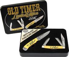 Schrade Old Timer Scrimshaw Set Knife SCPROM-16-32CP
