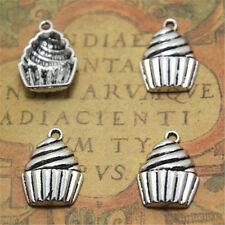 20pcs cup cake Charms silver tone cup cake Charms pendant 15x20x4mm