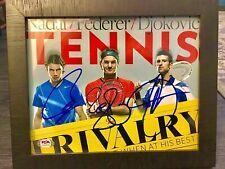 Roger Federer Rafael Nadal Novak Djokovic Signed Autographed 8x10 Photo PSA/DNA