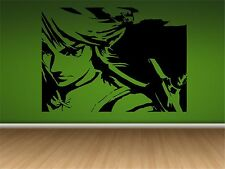 "LINK-ZELDA WALL DECAL- 33"" X 24""  Home Decal-Game Room-Video Game"