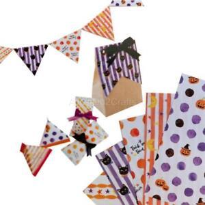 100 pcs Halloween Paper Decoration Prank Origami Washi Chiyogami 5 design 15cm