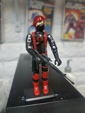 NEW G.I.JOE BLACK MAJOR CUSTOM RED CHROME DOME COBRA SOLDIER.