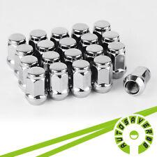 20 Chrome Wheel Lug Nuts 1/2-20 Closed End for Jeep Wrangler TJ YJ CJ JK Trucks