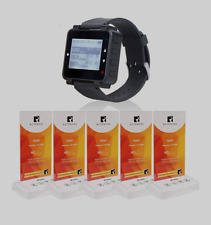 Retekess T128 Restaurant Pager System Customer Service Pager With 1 Watch Pager
