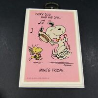 Vintage Peanuts Wall Plaque Hallmark Snoopy Every Dog has His Day Friday Dance