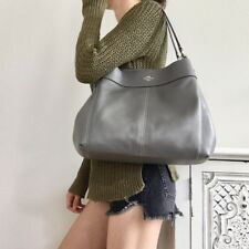 Coach F28997 Lexy Shoulder Bag In Pebble Leather Heather Grey