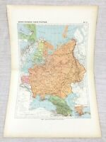 1888 Antique Map of Russia Russian Empire European Territory FRENCH 19th C