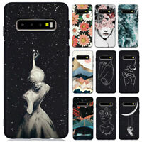 For Samsung Galaxy S10 S9 S8 J2 J5 J7 Slim Soft Silicone Painted TPU Case Cover