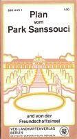 Wanderkarte, Potsdam, Plan vom Park Sanssouci, 1973